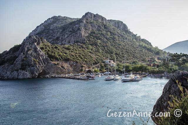Datça Hayıtbükü'nün güzel koyu ve sakin limanı