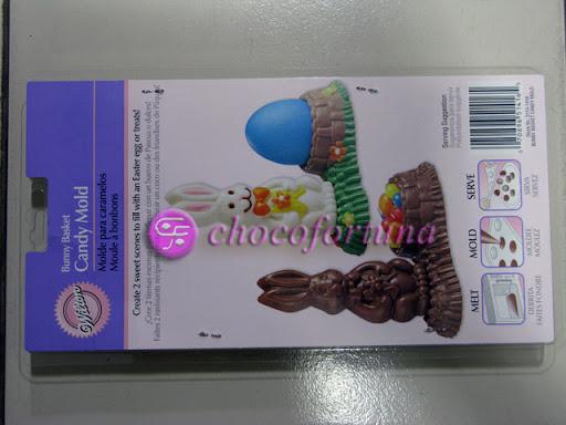 Cetakan Coklat Hewan Kelinci Paskah Easter Bunnies Basket