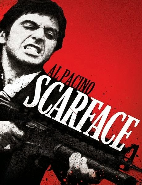 Poster Of Scarface (1983) Full Movie Hindi Dubbed Free Download Watch Online At alldownloads4u.com