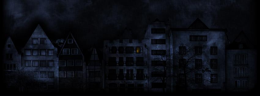 Ảnh bìa những ngôi nhà ma quái trong đêm