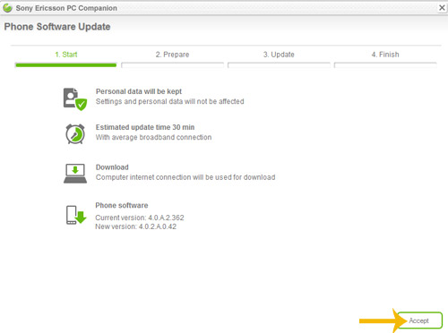 Sony Ericsson Update