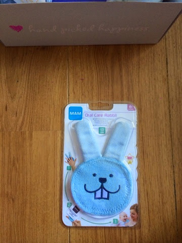 blue baby rabbit teether