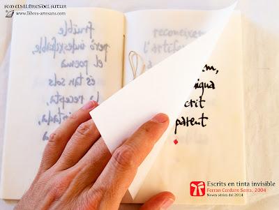 Escrits en tinta invisible, detall pàgines interiors