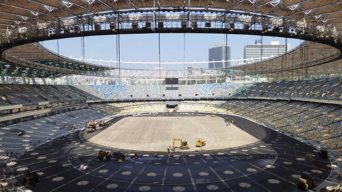 Olympic Stadium, Kiev, UEFA EM 2012 design by gmp – von Gerkan, Marg & Partners