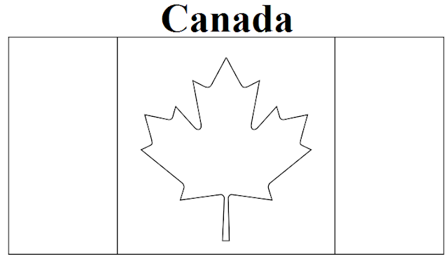 flag coloring pages canada - photo#12