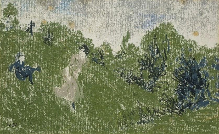Ker Xavier Roussel - Enfant dévalant la colline