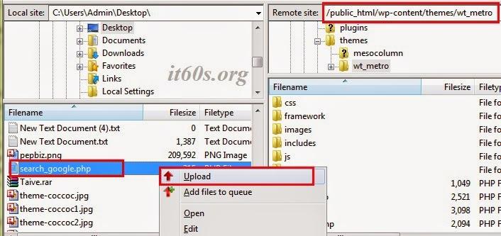 Cách tích hợp công cụ tìm kiếm google vào wordpress không dùng Plugin 2