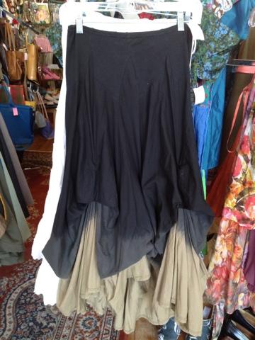 Drip Dye Brown & Black skirt Size S $24