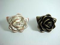 裝潢五金 品名:Z690-玫瑰取手 顏色:古銅/香檳 玖品五金