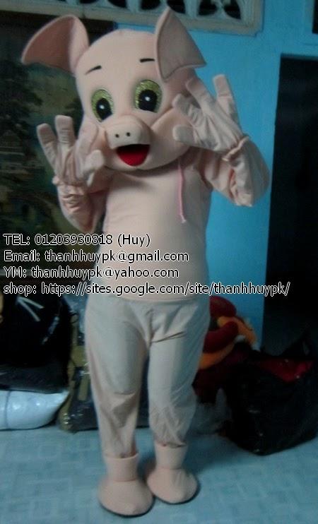heo khoả thân ^^ mascot, trang phục động vật
