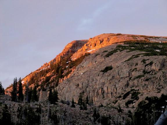 Sunset on East Notch Mountain