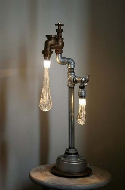 Cool Water Drip Lamp Design