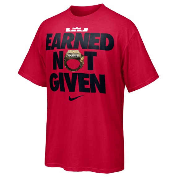 Nike to Release LeBron James8217 EARNED NOT GIVEN TShirt