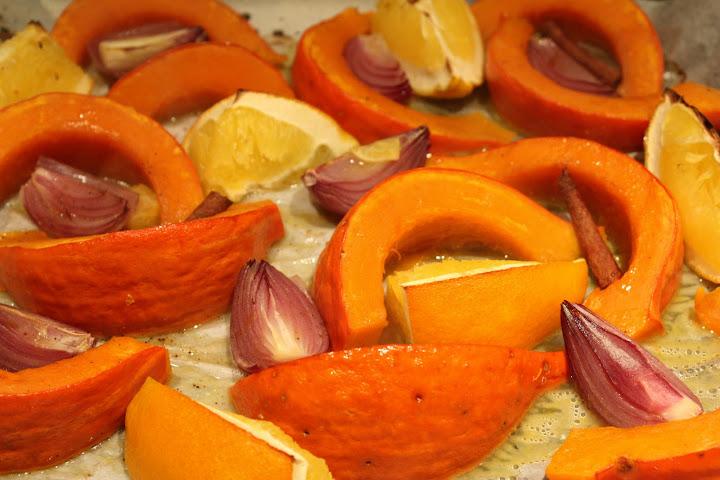 Courge rôtie à l'orange