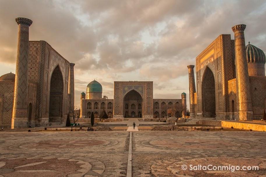 Uzbekistan, Samarkanda, Plaza Registan