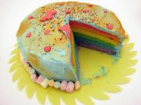 tarta arcoiris/rainbow cake