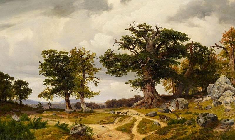 Johann Wilhelm Schirmer - Landschaft mit Ziegenhirten