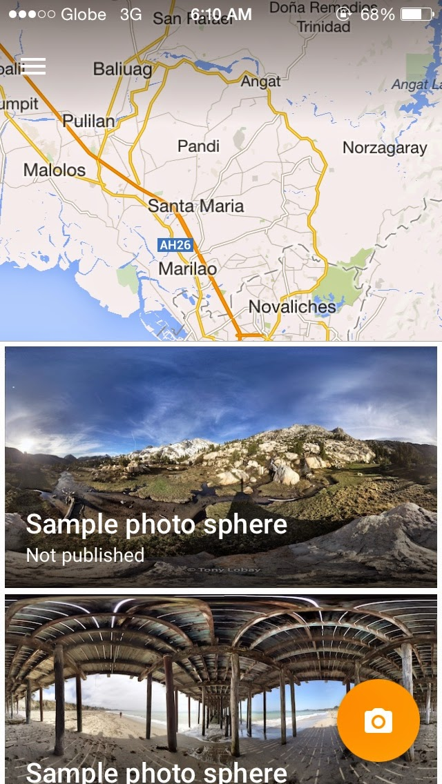 Photo Sphere app now available to iOS users. Share the world in 360º!