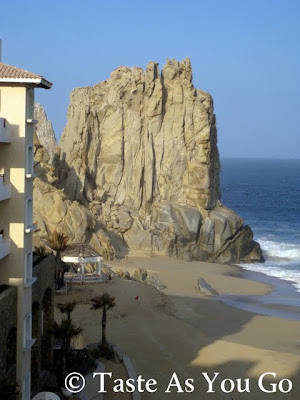 View of the Rock Formation from Grand Solmar Land's End Resort and Spa in Cabo San Lucas, Mexico - Photo by Taste As You Go