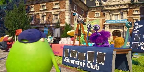 Screen Shot Of Hollywood Movie Monsters University (2013) Download And Watch Online Free at Alldownloads4u.Com