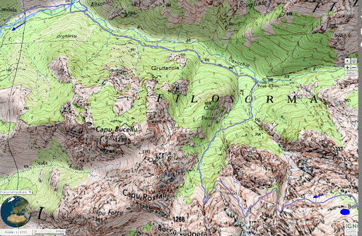 Carte de la Cavicchja et de Valle Serrata