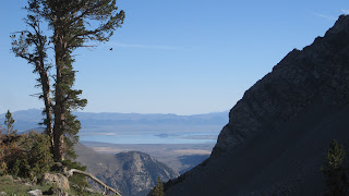 Mono Lake...and that mountain to the right pretty much describes the next five miles of our trail