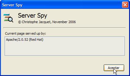 Ventana con información extendida en Server Spy
