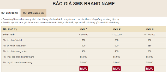 Chiến dịch SMS Marketing