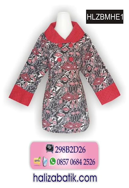butik batik modern, model blus batik, contoh batik, HLZBMHE1