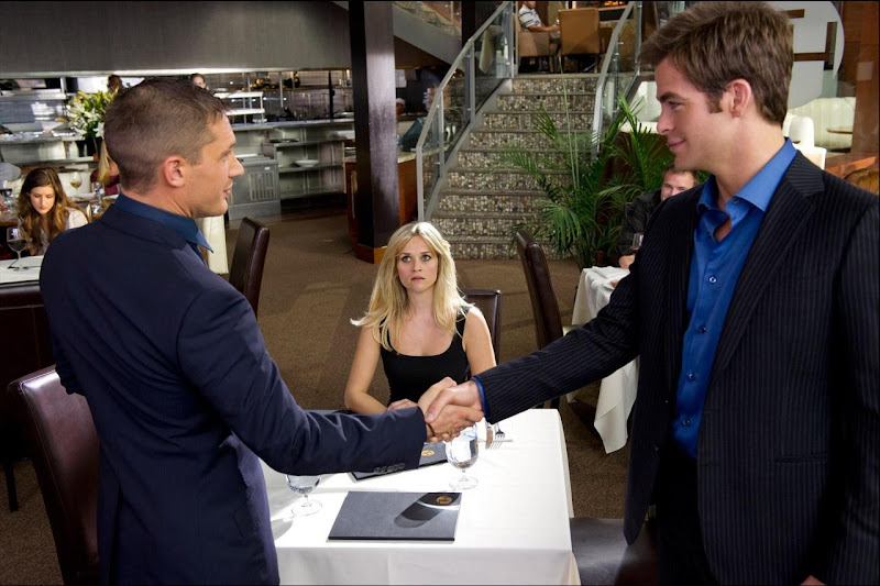 Chris Pine, Reese Witherspoon, Tom Hardy in This Means War