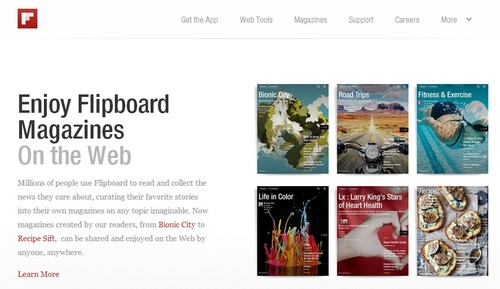 Flipboard Magazine now can be read on web browser
