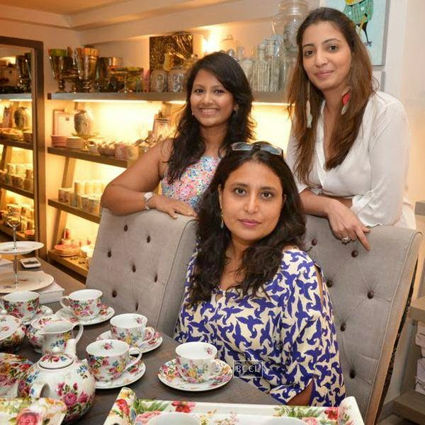 Sanvari Alagh and Anjori Alagh during the preview of Flower Power Collection, held at The White Window store, in Mumbai, on July 31, 2014. (Pic: Viral Bhayani)