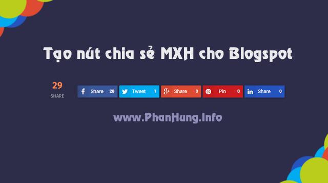 Nút chia sẻ mạng xã hội cho Blogspot (Có lượt đếm số lần chia sẻ)