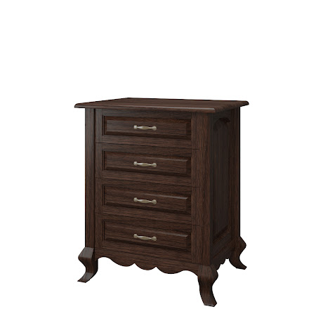 Orleans Nightstand with Drawers, Stormy Walnut