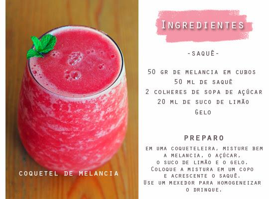 bebida com frutas