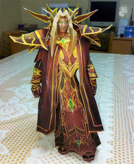 World of Warcraft Kaelthas Sunstrider Papercraft
