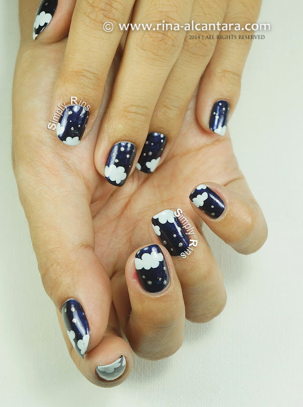 Night-y Night Nail Art by Rina Alcantara