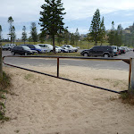 Locked gate with the Redhead SLSC car park in the background (391523)