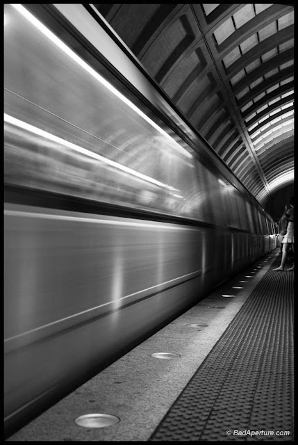DC Metro Leaves Station