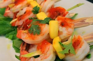 Σουβλάκι Γαρίδας,Skewered Shrimp.