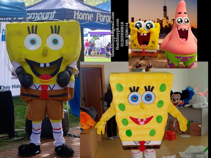 sản xuất mascot Anh hùng lên cạn-The SpongeBob - trang phục quảng cáo bọt biển