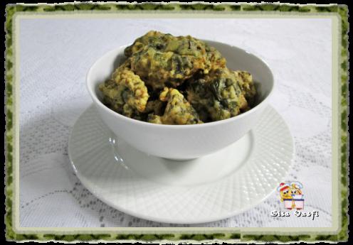 Bolinhos fritos de espinafre