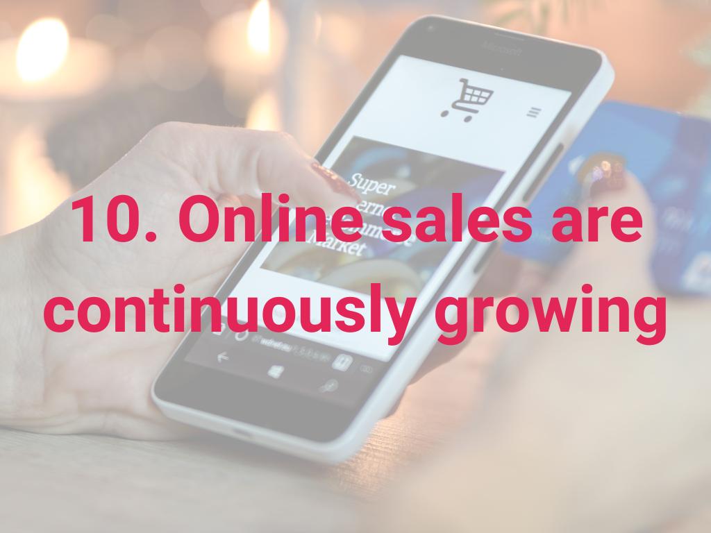 Online verkopen groeien continu