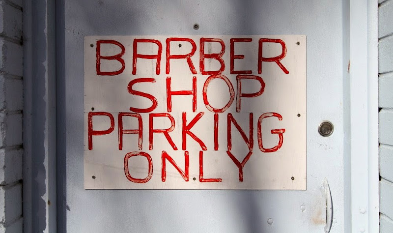 Barbershop parking only