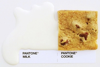 pantone milk and cookies