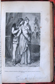 Lámina y texto manuscrito: «Traidora por amor»