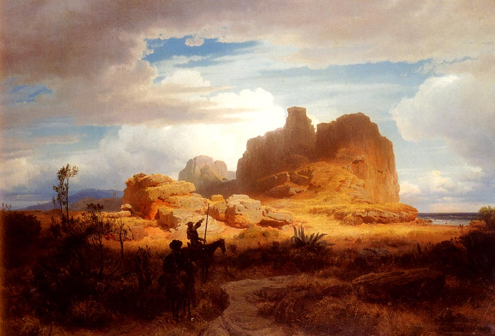 Andreas Achenbach - Don Quixote and Sancho Panza