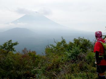 烏帽子岳からの富士山