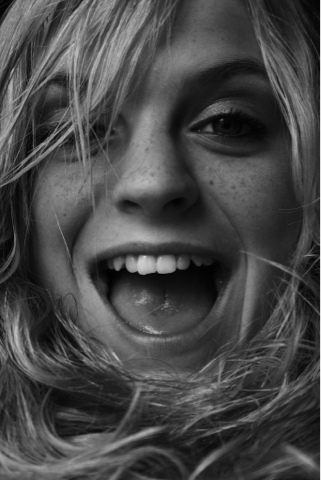 'Happy Hair' - Image of a joyful, smiling freckled girl by D. Sharon Pruitt at Pink Sherbet Photography - View her Flickr stream here!