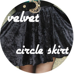 Velvet skirt to dress